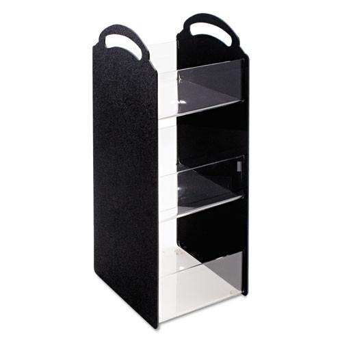Vertiflex Commercial Grade Compact Condiment Organizer  6 1 8w x 8d x 18h  Black (VRTVFCT18)