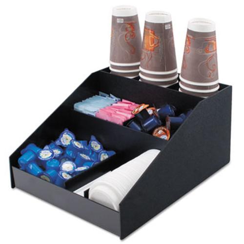 Vertiflex Commercial Grade Horizontal Condiment Organizer  12w x 16d x 7 1 2h  Black (VRTVFCC1200)