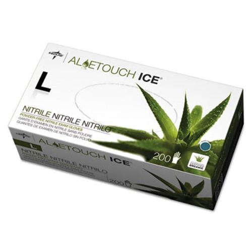 Medline Aloetouch Ice Nitrile Exam Gloves  Large  Green  200 Box (MIIMDS195286)