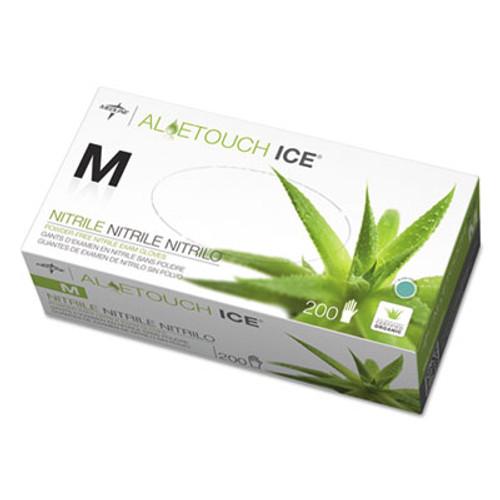 Medline Aloetouch Ice Nitrile Exam Gloves  Medium  Green  200 Box (MIIMDS195285)