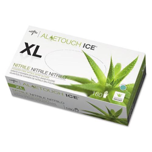 Medline Aloetouch Ice Nitrile Exam Gloves  X-Large  Green  180 Box (MIIMDS195287)