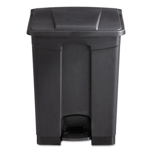 Safco Large Capacity Plastic Step-On Receptacle  17 gal  Black (SAF9922BL)