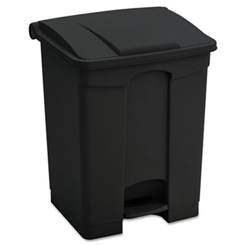 Safco Large Capacity Plastic Step-On Receptacle  23 gal  Black (SAF9923BL)