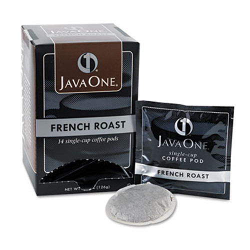 Java One Coffee Pods  French Roast  Single Cup  14 Box (JAV30800)