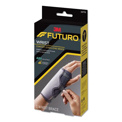 FUTURO Adjustable Reversible Splint Wrist Brace  Fits Wrists 5 1 2 - 8 1 2   Black (MMM10770EN)