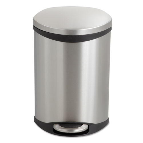 Safco Step-On Medical Receptacle  3 gal  Stainless Steel (SAF9901SS)