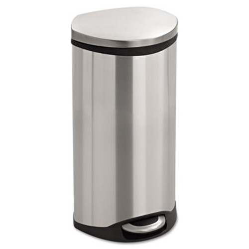 Safco Step-On Medical Receptacle  7 5 gal  Stainless Steel (SAF9902SS)