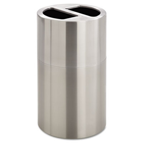 Safco Dual Recycling Receptacle  30 gal  Stainless Steel (SAF9931SS)