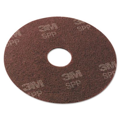 Scotch-Brite Surface Preparation Pad  17  Diameter  Maroon  10 Carton (MMMSPP17)