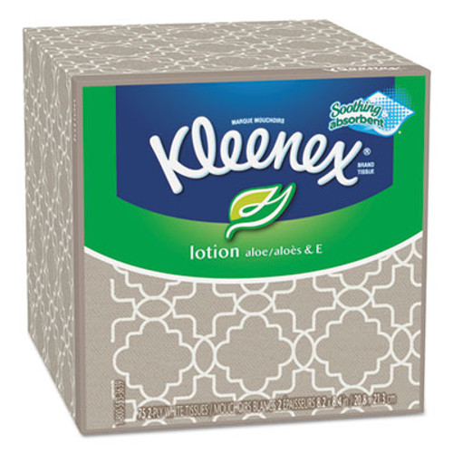 Kleenex Lotion Facial Tissue, 3-Ply, 75 Sheets/Box (KCC25829BX)