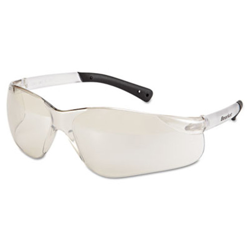 Crews BearKat Safety Glasses, Frost Frame, Clear Mirror Lens (CRWBK119)