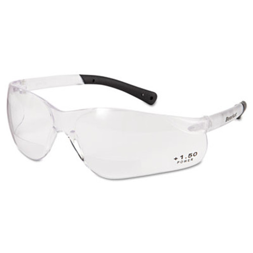 Crews BearKat Magnifier Safety Glasses, Clear Frame, Clear Lens (CRWBKH15)