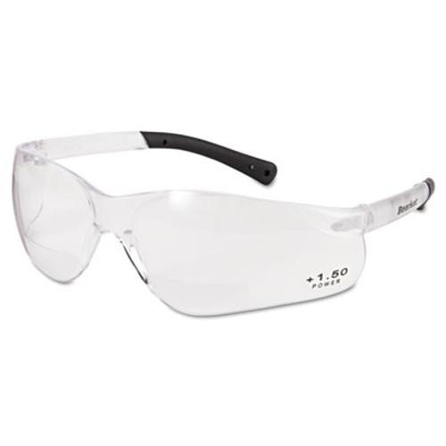 MCR Safety BearKat Magnifier Safety Glasses  Clear Frame  Clear Lens (CRWBKH15)