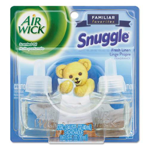 Air Wick Scented Oil Twin Refill  Fresh Linen  0 67 oz  2 Pack  6 Carton (RAC82291)