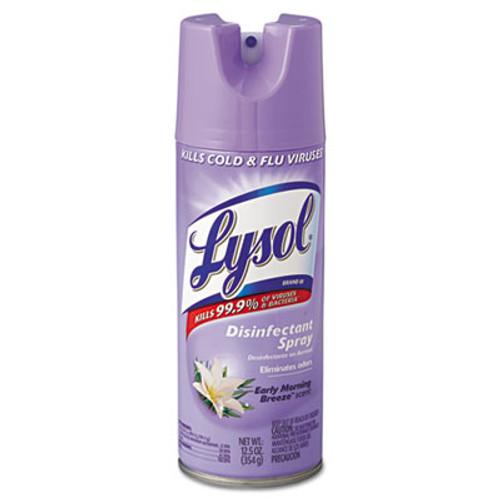 LYSOL Brand Disinfectant Spray  Early Morning Breeze  12 5oz Aerosol  12 Carton (RAC80833)