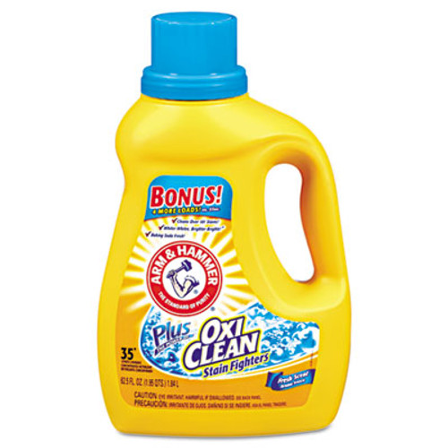 Arm & Hammer OxiClean Concentrated Liquid Laundry Detergent  Fresh  61 25oz Bottle  6 Carton (CDC3320000107)
