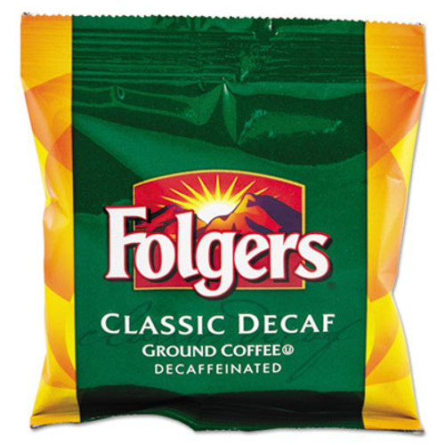 FolgersA Ground Coffee, Fraction Pack, Classic Roast Decaf, 1.5oz, 42/Carton (FOL06433)