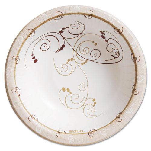 Dart Symphony Paper Dinnerware  Heavyweight Bowl  12oz  Tan  125 Pack (SCCHB12J8001PK)