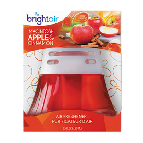 BRIGHT Air Scented Oil Air Freshener  Macintosh Apple and Cinnamon  Red  2 5 oz (BRI900022)