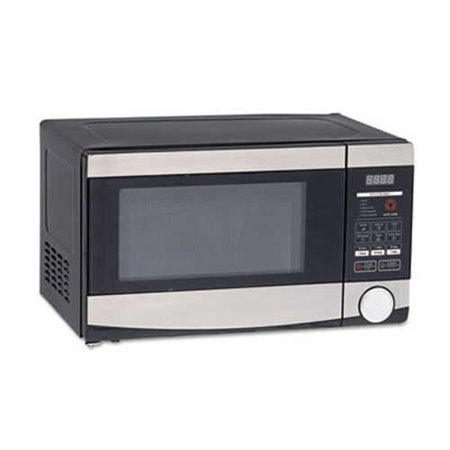 Avanti 0 7 Cu ft Capacity Microwave Oven  700 Watts  Stainless Steel and Black (AVAMO7103SST)