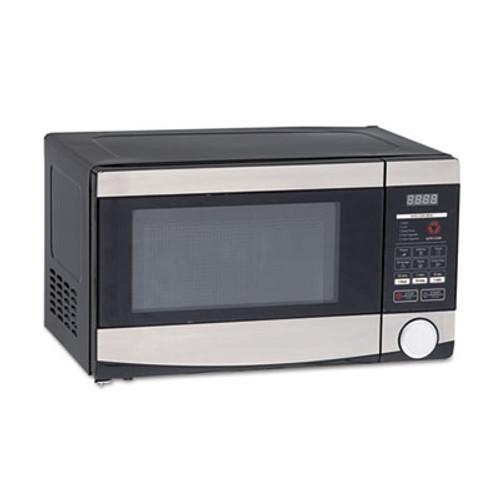 Avanti 0 7 Cu ft Capacity Microwave Oven  700 Watts  Stainless Steel and Black (AVAMO7103SST)