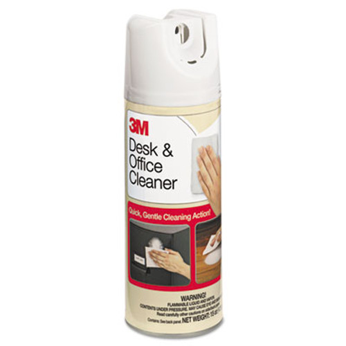 3M Desk   Office Spray Cleaner  15oz Aerosol  12 Carton (MMM573CT)