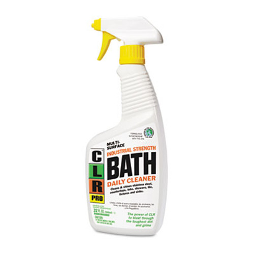 CLR PRO Bath Daily Cleaner  Light Lavender Scent  32 oz Pump Spray  6 Carton (JELBATH32PRO)