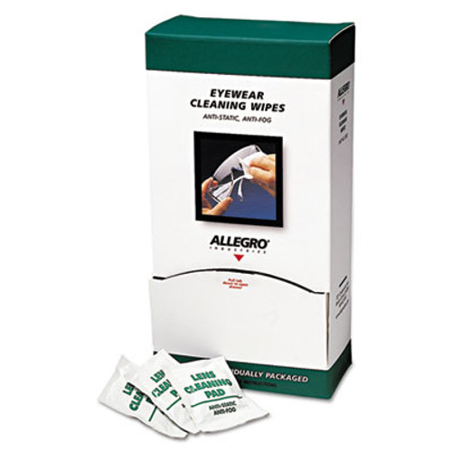 "Allegro Eyewear Cleaning Wipes, 5 in x 8"", White, 100/Box (ALG0350)"