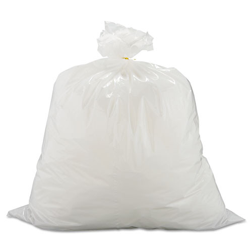 Warp's Industrial Strength Flex-O-Bags Trash Can Liners  13 gal  1 25 mil  24  x 30   White (WRPFB13150)