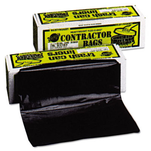 Warp's Heavyweight Contractor Bags, 36 x 56, 55gal, 3mil, Black, 30/Box (WRPHB5530)