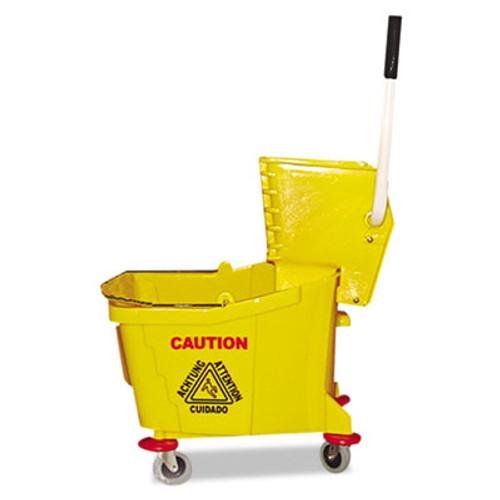 Magnolia Brush Mop Bucket Wringer Combo  Plastic  Yellow (MNL60353)