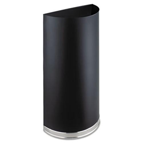 Safco Half-Round Receptacle  Half-Round  Steel  12 5 gal  Black (SAF9940BL)