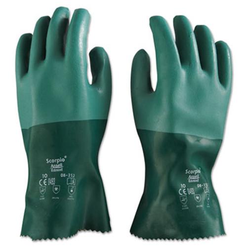 AnsellPro Scorpio Neoprene Gloves  Green  Size 10  12 Pairs (ANS835210)