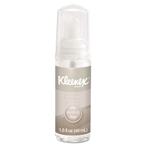 Kleenex Alcohol-Free Foam Hand Sanitizer, 1.5 oz, Clear (KCC34136EA)