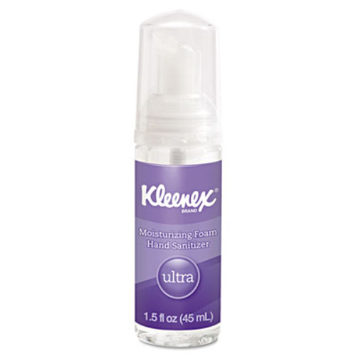 Kleenex Ultra Moisturizing Foam Hand Sanitizer, 1.5 oz, Clear (KCC34604EA)