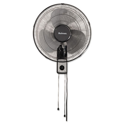 Holmes 16  Wall Mount Fan  3-Speed  Metal  Black (HLSHMF1611AUM)
