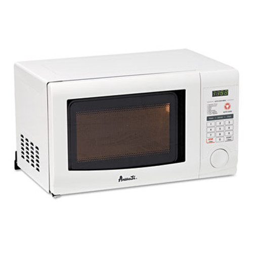 Avanti 0 7 Cubic Foot Capacity Microwave Oven  700 Watts  White (AVAMO7191TW)