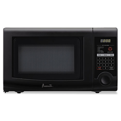 Avanti 0 7 Cubic Foot Capacity Microwave Oven  700 Watts  Black (AVAMO7192TB)