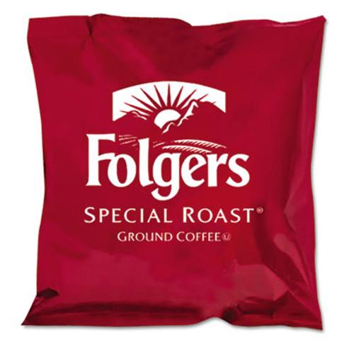 Folgers Ground Coffee  Fraction Packs  Special Roast  0 8 oz   42 Carton (FOL06897)