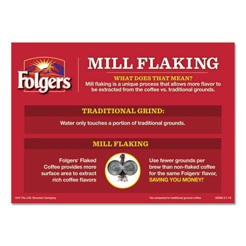 Folgers Ground Coffee  Fraction Packs  Special Roast  0 8 oz   42 Carton (FOL06897)