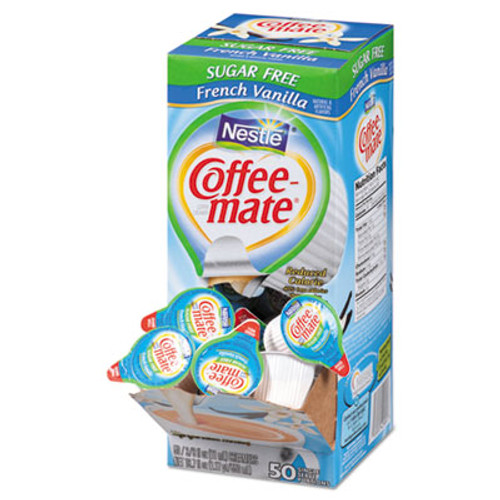 Coffee mate Liquid Coffee Creamer  Sugar-Free French Vanilla  0 38 oz Mini Cups  50 Box (NES91757)