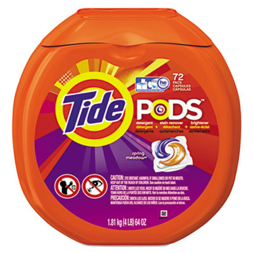 Tide Detergent Pods  Spring Meadow Scent  72 Pods Pack (PGC50978)