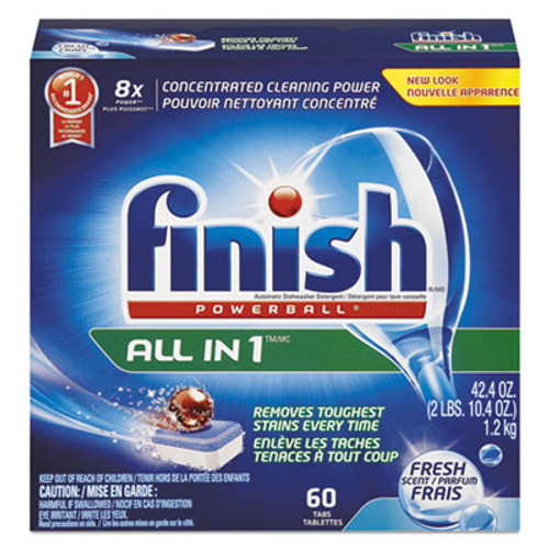 FINISH Powerball Dishwasher Tabs, Fresh Scent, 60/Box (RAC81158BX)