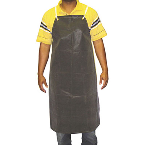 Anchor Brand Hycar Bib Apron with Cloth Backing, 24 in. x 36 in., Black, One Size Fits All (ANRAR100)