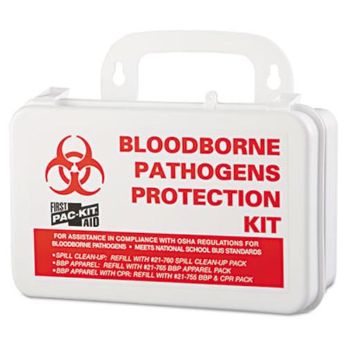 Pac-Kit Small Industrial Bloodborne Pathogen Kit  Plastic Case  4 5 H x 7 5 W x 2 75 D (PKT3060)