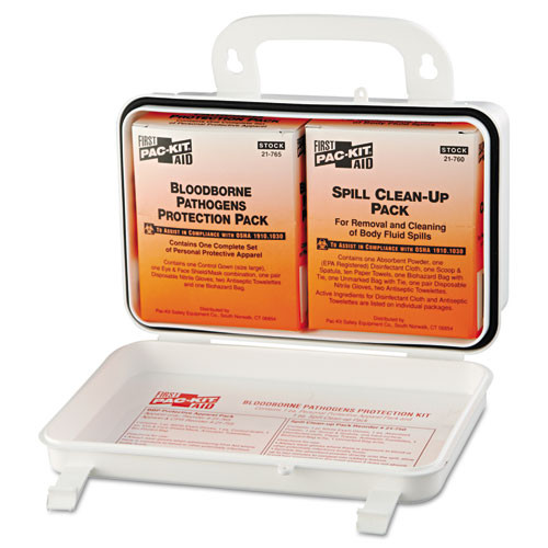 Pac-Kit Small Industrial Bloodborne Pathogen Kit  Plastic Case  4 5 H x 7 5 W x 2 75 D (PKT3060)