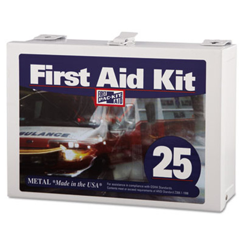 Pac-Kit First Aid Kit for Up to 25 People  159-Pieces  Steel (PKT6086)