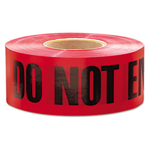 "Empire ""Do Not Enter"" Barricade Tape, 3"" x 1000 ft, ""Do Not Enter"" Text, Red/Black (EML11081)"