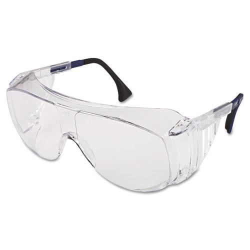 Honeywell Uvex Ultraspec 2001 OTG Safety Eyewear  Clear Black Frame  Clear Lens (UVXS0112)