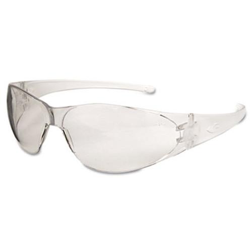 Crews Checkmate Safety Glasses, Clear Temple, Clear Lens, Anti Fog (CRWCK110AF)